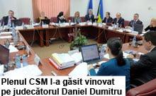 Judecatorul Dumitru, pirit de procurori la CSM!
