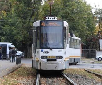Jumatati de adevar, marca Firea: Tramvaiul 41 va circula de la 1 septembrie doar pe un singur fir pe Podul Grant