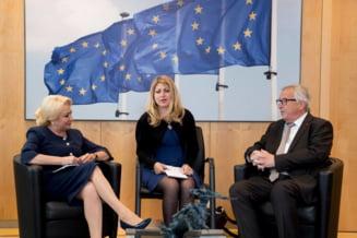 Juncker i-a spus lui Dancila ca va monitoriza Romania in continuare: E esential sa nu se faca pasi inapoi