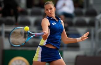 Karolina Pliskova merge in finala la Roma si o poate depasi pe Simona Halep in clasamentul WTA