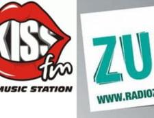 Kiss FM si Radio Zu au cele mai bune audiente