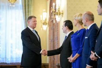 Klaus Iohannis, la sediul PNL: Eu sunt foarte multumit de cum decurg lucrurile