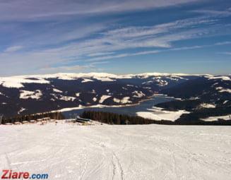 Klaus Iohannis a mers la schi in Muntii Sureanu, pentru a treia oara in acest an