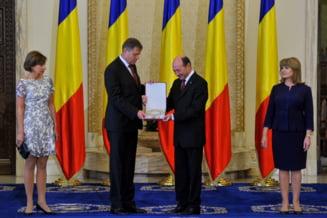 Klaus Iohannis e noul presedinte al Romaniei. Traian Basescu si-a luat la revedere