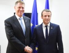Klaus Iohannis si Emmanuel Macron