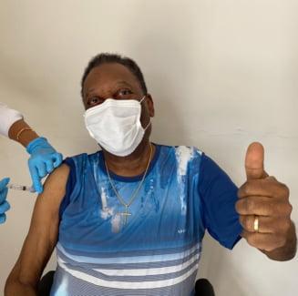 La 80 de ani, Pele s-a vaccinat impotriva COVID - 19