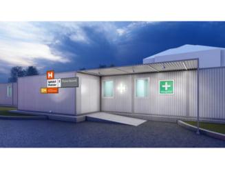 La Piatra Neamt au inceput lucrarile la unitatea mobila de terapie intensiva din curtea Spitalului Judetean de Urgenta