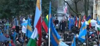 La Targu Mures are loc Marsul Libertatii Secuilor, care acuza Romania de ipocrizie la presedintia UE