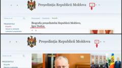 La cateva ore de la investirea Maiei Sandu, limba utilizata pe site-ul Presedintiei de la Chisinau a fost schimbata din moldoveneasca in romana