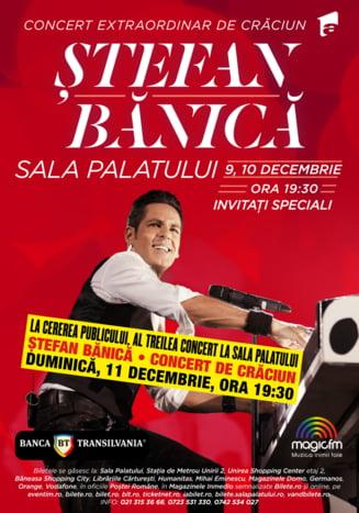 La cererea publicului, al treilea Concert de Craciun Stefan Banica