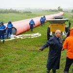 La invitatia ISU Gorj, A.B.A Jiu a participat la exercitiul de simulare inundatii pe raul Jiu, in zona Comunei Balteni