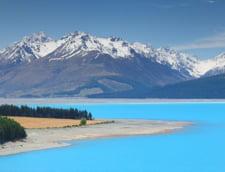 Lacul Pukaki Noua Zeelanda culori frumoase