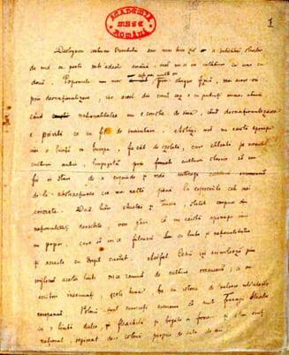Lada cu manuscrisele si cartile lui Eminescu, prezentata
