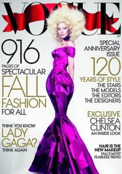 Lady Gaga, inainte si dupa ce a fost retusata pentru Vogue (Video, Galerie foto)