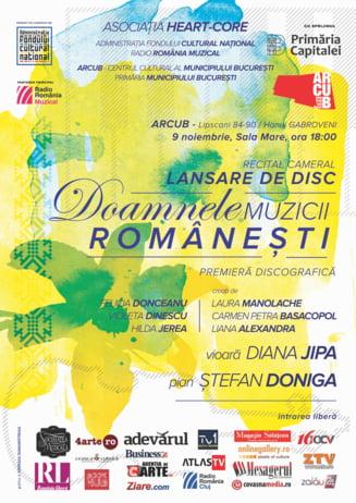 """Lansarea discului """"Doamnele muzicii romanesti"""" are loc pe 9 noiembrie la Bucuresti"""