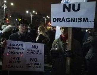 Lant uman si noapte alba la Universitate: Jos Clanul Dragnea ca sa reconstruim Romania!