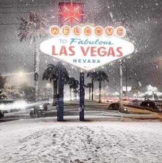 Las Vegas a fost acoperit de zapada, pentru prima data in ultimii 10 ani. A nins si in Los Angeles (Foto&Video)