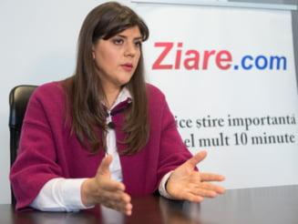 Laura Codruta Kovesi vrea ca Parchetul European sa isi inceapa activitatea de urmarire penala de la 1 iunie