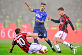 Lazio pierde marele derbi cu AC Milan