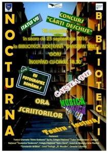 """Lectii de viata la """"Nocturna bibliotecilor"""", eveniment organizat de Biblioteca """"Christian Tell"""""""