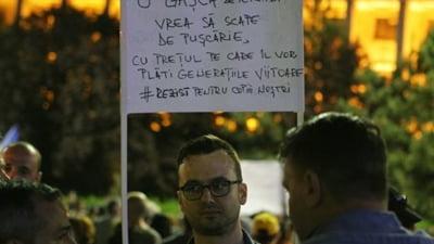 """Legile Justitiei scot iar oamenii in strada: Mars de la Guvern la Parlament sub sloganul """"Nu vrem sa fim o natie de hoti!"""