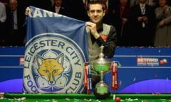 Leicester, orasul minunilor. Dupa titlul la fotbal, un sportiv din oras a cucerit Campionatul Mondial la snooker