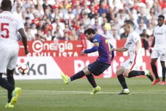 Leo Messi o salveaza de unul singur pe Barcelona, care a fost condusa de doua ori de Sevilla (Video)