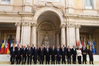 Liderii UE au semnat declaratia de la Roma: Vom face Uniunea Europeana mai puternica