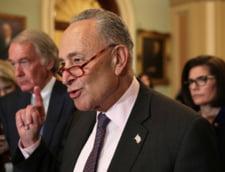 Liderul majoritatii democrate Chuck Schumer ii critica pe republicanii din Senatul SUA pentru achitarea lui Trump