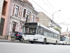 Linia 1 de troleibuze, inlocuita cu autobuze in acest weekend