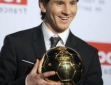 Lionel Messi a primit Balonul de Aur