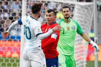 Lionel Messi a primit al doilea cartonas rosu al carierei, in finala mica de la Copa America (Video)