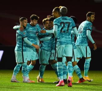 Liverpool a dat de pamanat cu o echipa din liga a treia engleza. Oamenii lui Klopp au marcat 7 goluri si s-au calificat in optimi
