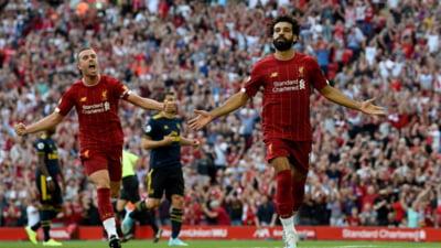 Liverpool castiga la pas marele derbi cu Arsenal si are punctaj maxim in Premier League