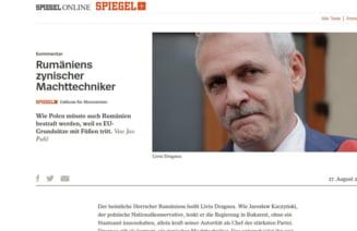Liviu Dragnea, desfiintat intr-un editorial Der Spiegel: Kaczynski insulta protestatarii, Dragnea ii bate. De ce nu face UE nimic?