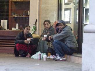 Londra: 8% dintre oamenii strazii sunt romani