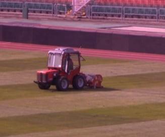 Lucrari de urgenta la stadionul pe care se va juca meciul Ungaria - Romania