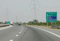 Lucrari pe Autostrada A1 Bucuresti - Pitesti