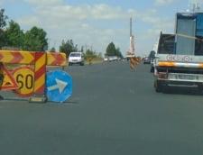 Lucrari pe un tronson din Autostrada Bucuresti - Pitesti. Pana la toamna traficul va fi deviat