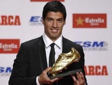 Luis Suarez a primit Gheata de aur, Cristiano Ronaldo a refuzat prezenta