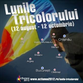 Lunile Tricolorului, campanie pentru Unire lansata cu un steag urias