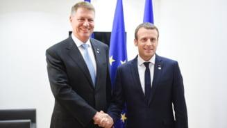 Macron a postat un clip de la intalnirea cu Iohannis: Europa trebuie sa fie puternica si nedivizata