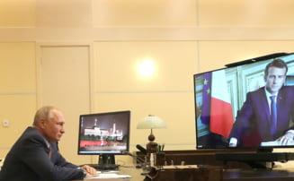 Macron accepta invitatia facuta de Putin de a efectua, pana la sfarsitul anului, o vizita in Rusia