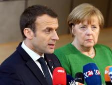 """Macron ii propune lui Merkel o """"foaie de drum ambitioasa pana in iunie"""" pentru reformarea UE"""