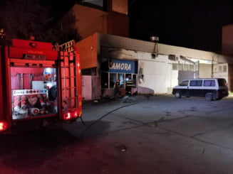 Magazin de cartier din Barlad, distrus de un incendiu