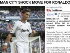 Manchester City, oferta colosala pentru Cristiano Ronaldo