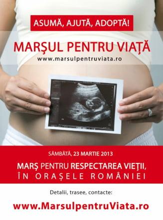 """Manifest impotriva avortului: """"Marsul pentru viata"""" la Timisoara, Bistrita si Cluj"""