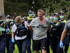 Manifestatii antivaccinare in mai multe orase din Australia. La Melbourne, au fost arestati cativa protestatari