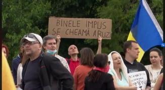 Manifestatii impotriva obligativitatii purtarii mastii, la Timisoara, Cluj si Oradea