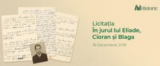 Manuscrise de Eliade, Cioran si Blaga au fost scoase la licitatie. Ministerul Culturii isi revendica dreptul de a le cumpara